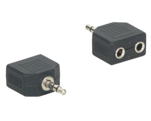 ADAPTADOR AUDIO STEREO JACK 3.5MM MACHO A 2X JACK 3.5MM HEMB