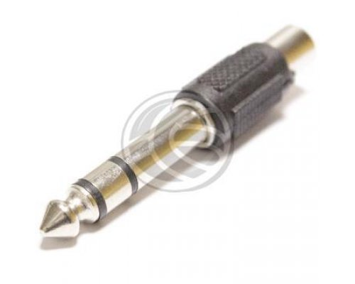 ADAPTADOR AUDIO ESTÉREO TRS JACK-6.3MM-MACHO A 1XRCA-HEMBRA