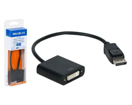 CABLE ADAPTADOR DISPLAYPORT MACHO A DVI-D 24+5P HEMBRA EN BL