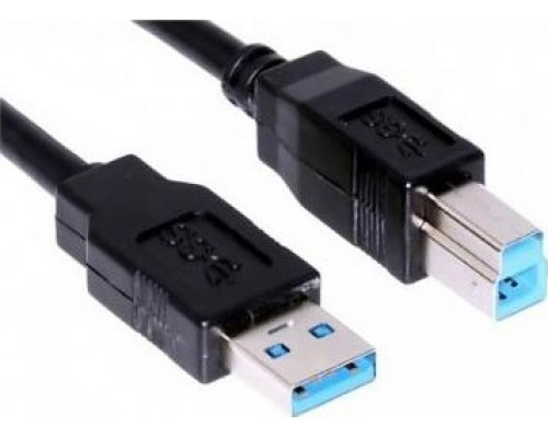 CABLE USB3.0 A/M-B/M NEGRO 1m