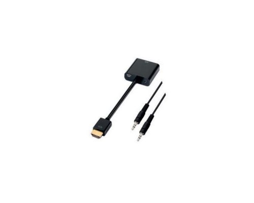 CONVERSOR HDMI A SVGA + AUDIO 10 CM BLACK NANOCABLE