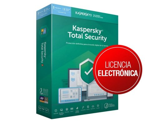 KASPERSKY TOTAL SECURITY 2019 3 Lic. 2 años ELECTRONICA