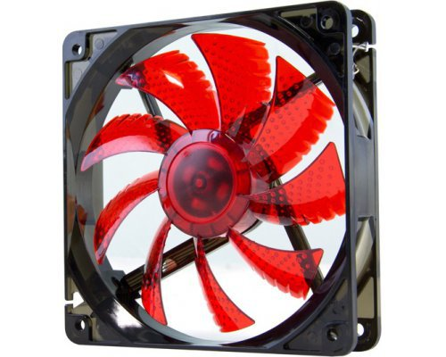 VENTILADOR 120mm NOX COOLFAN LED ROJO