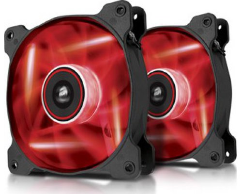 VENTILADOR 120mm CORSAIR AF120-LED ROJO DUAL PACK