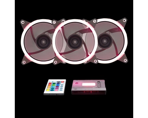 KIT 3xVENTILADOR 120mm UNYKA GAMING CANDY 30 LED RGB + MANDO