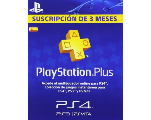 SONY PLAYSTATION PLUS CARD PS4/PS3/PSVITA 90DÍAS