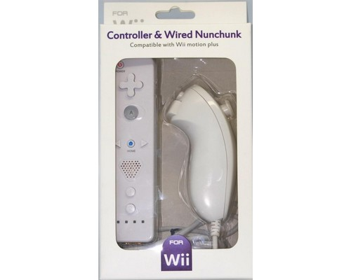 PACK WiiMOTE + NUNCHUCK COMPATIBLE WII BLANCO